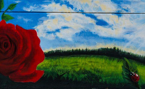 Mural: Roses by Adrianna Morris