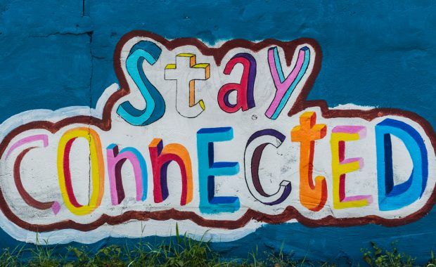 Mural: Stay Connected by Lindy Cook