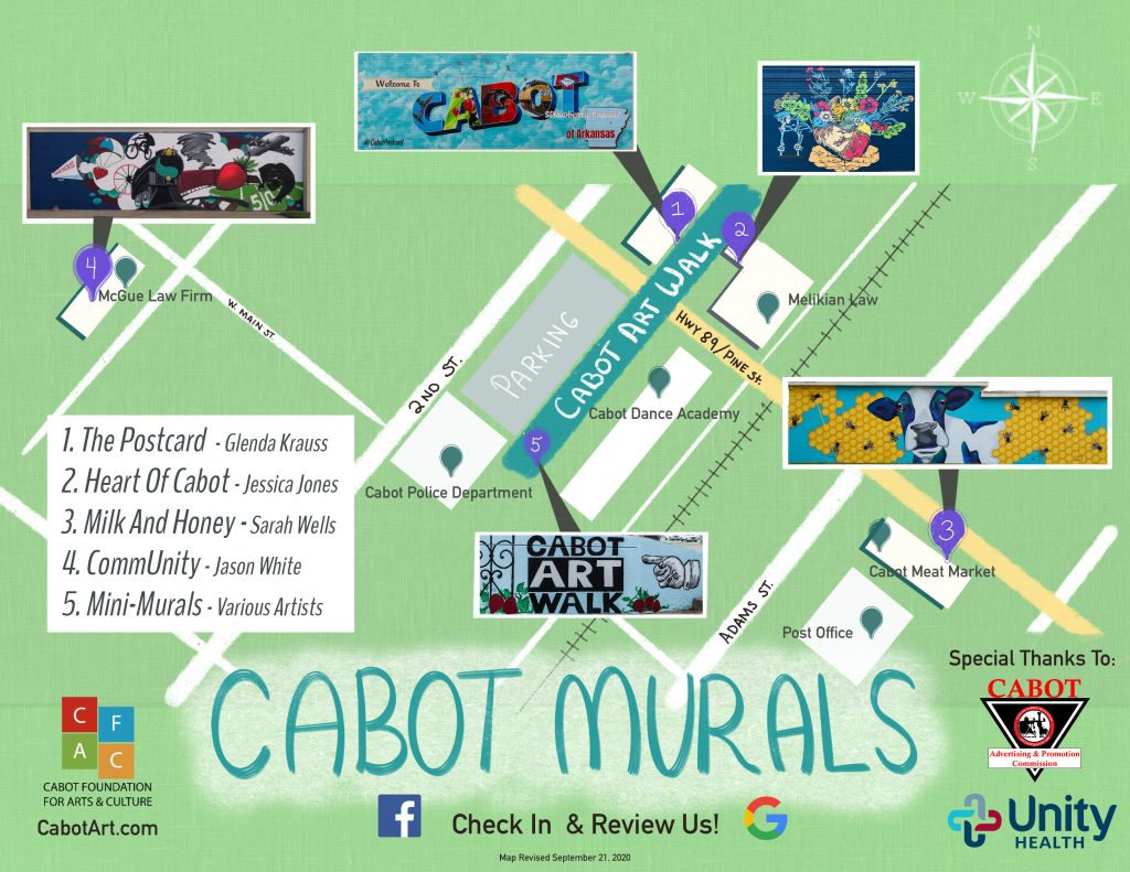 Cabot Mural Map